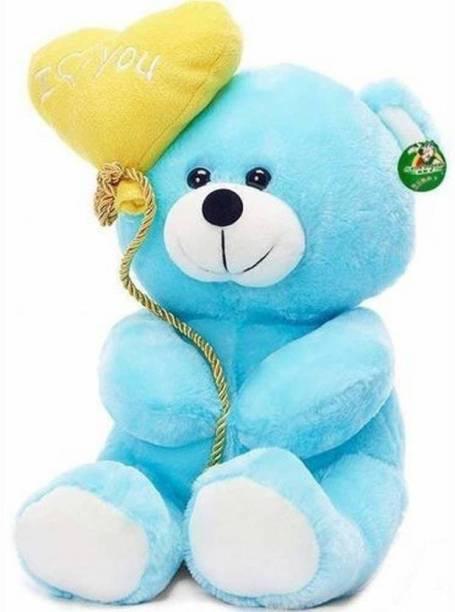 ToyKing Cute I Love You Balloon Heart Teddy Bear Blue  - 28 cm