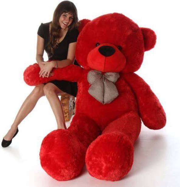 HappyChild 3 feet red teddy bear  - 90.1 cm