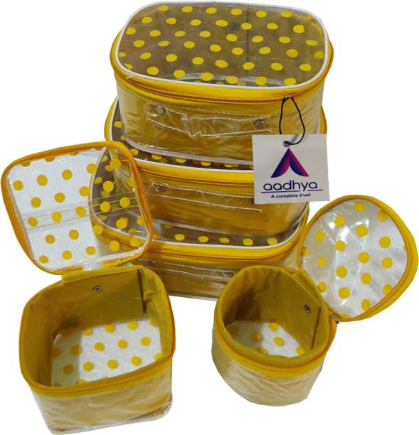Aadhya Polka Dot 5 Kit Cosmetic stporage makeup bindi Organizer Vanity Box