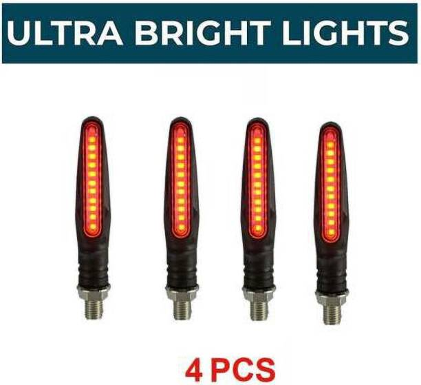 PETROX Front, Side, Rear LED Indicator Light for Universal For Bike Universal For Bike