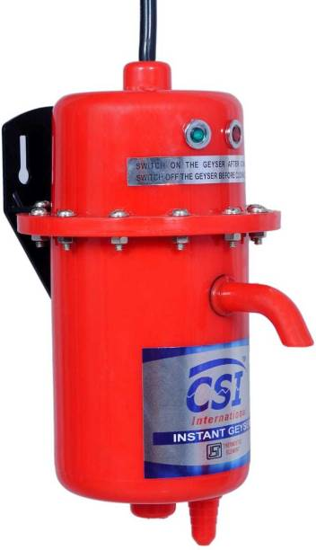 CSI INTERNATIONAL 1 L Instant Water Geyser (1L INSTANT WATER PORTABLE HEATER GEYSER SHOCK PROOF BODY WITH INSTALLATION KIT, Red)