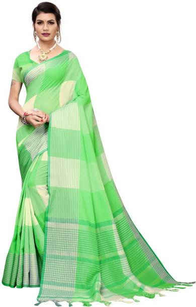 Calendar Women's Multi ColorCotton Silk Saree With Blouse Piec
