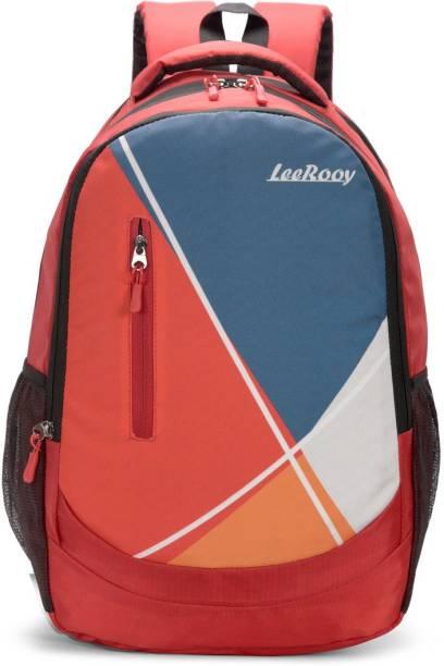 LeeRooy 0BG18RED Waterproof School Bag