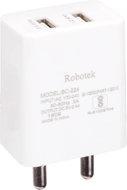 Robotek SC-224 2.4 A Multiport Mobile Charger with Detachable Cable