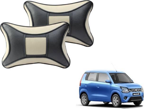 Mockhe Beige, Black Cotton, Leatherite Car Pillow Cushion for Maruti Suzuki