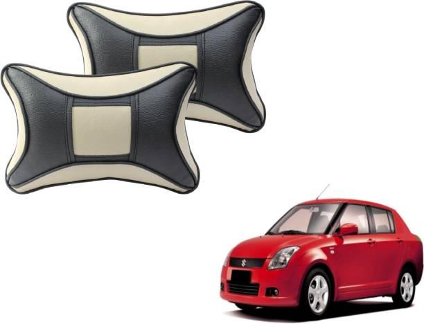 Autyle Beige, Black Cotton, Leatherite Car Pillow Cushion for Maruti Suzuki
