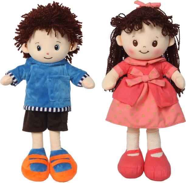 Miss & Chief Premium Quality Adorable Boy & Girl Rag Doll