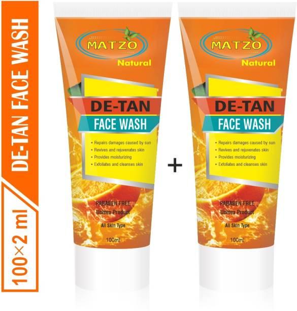 Matzo Natural De-Tan (Tan Removal) Paraben Free Face Wash