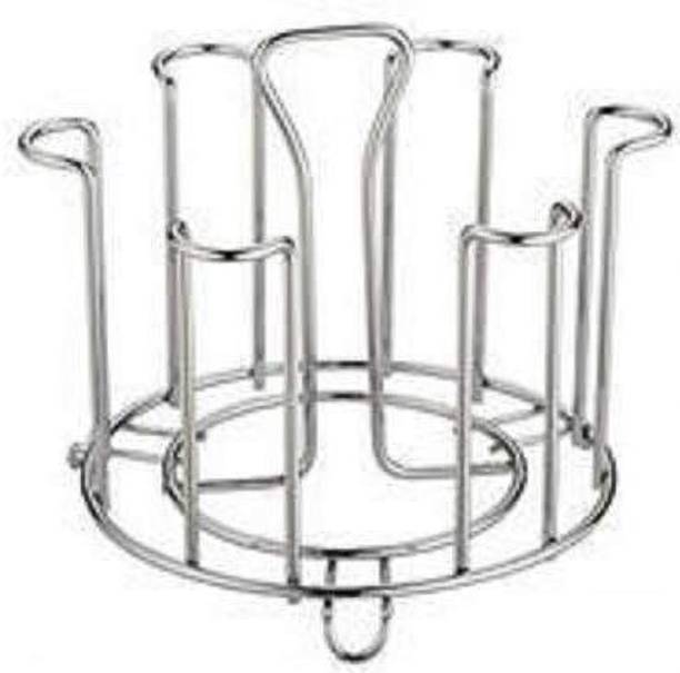 2Mech Stright Stainless Steel Glass Stand/Tumbler Holder/Glass Holder for Kitchen/Dining Table(Only Stand) Stainless Steel Glass Holder