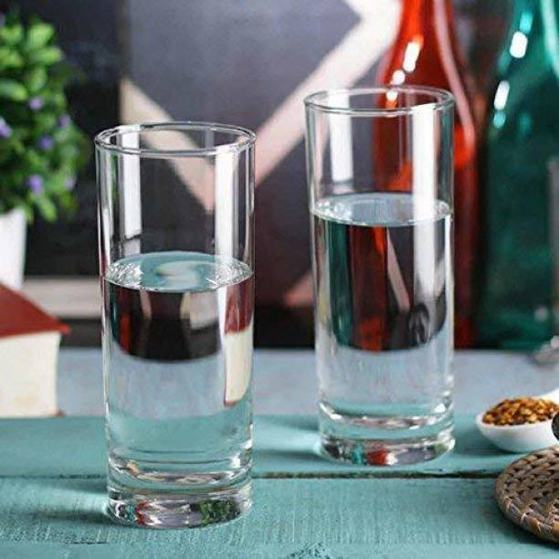crecklo (Pack of 6) Crystal Clear Transparent Water & Juice Glasses Glass Set Glass Set
