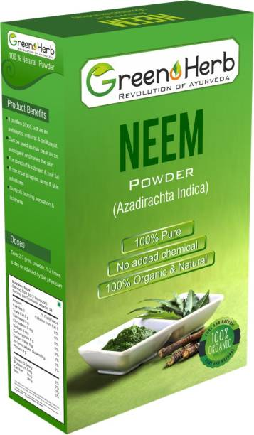 greenoherb Organic 100% Natural Neem Powder (100 g)