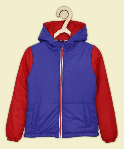 Miss & Chief Full Sleeve Color Block Boys Jacket