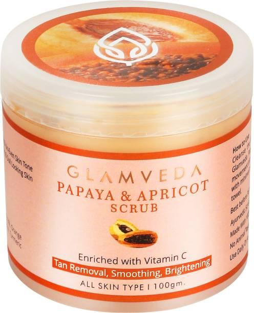 GLAMVEDA Papaya & Apricot Anti Tan Face  Scrub