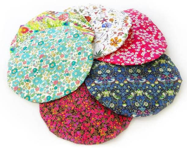 PSYCHE Best Quality Reusable Printed Waterproof Shower Cap (Pack Of 6)