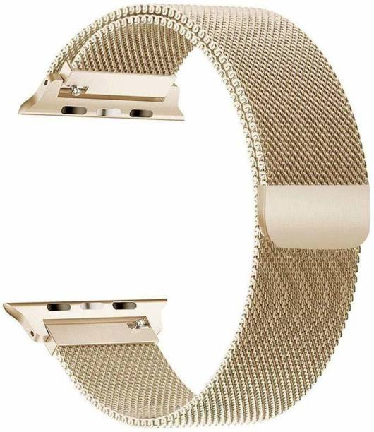 DAEMON New Magnetic Lock Stainless Steel Milanese Strap Band (38mm,40mm Gold) Smart Watch Strap Smart Watch Strap