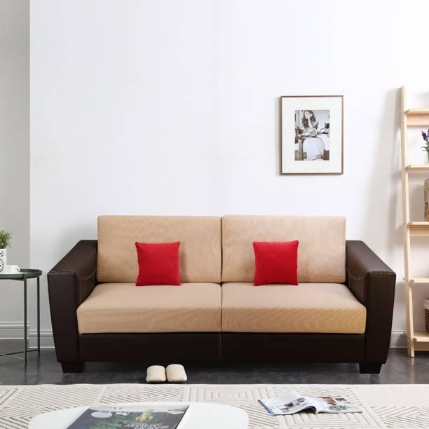 KURLON Turin Leatherette 3 Seater  Sofa