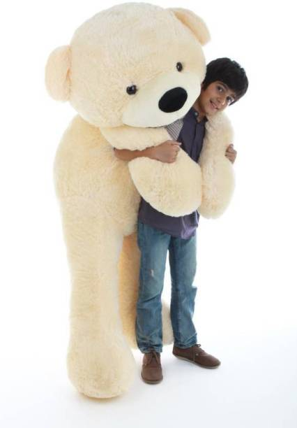 omex 4 Feet Teddy Bear Soft Toys For Someone Special Gift-121 Cm (Cream)  - 121 cm