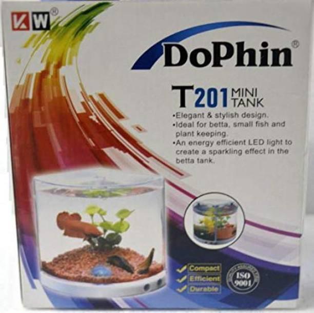 Dophin T-201 Corner Pentagon Aquarium Tank