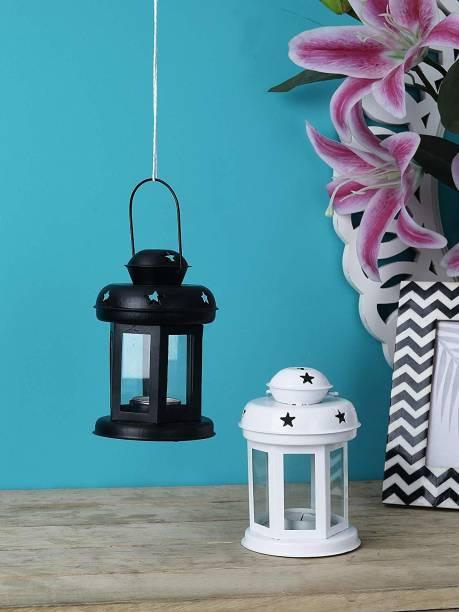 Arsalan Multicolor Iron Hanging Lantern