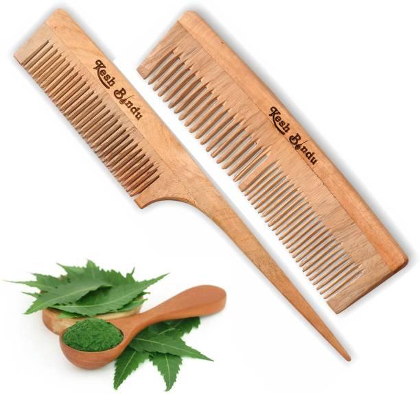 kesh Bindu Neem Wood Combs 100% Handmade, Anti- Dandruff C3 & C4 Comb
