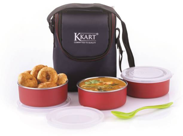 kkart Classic Microwave 3 Containers Lunch Box