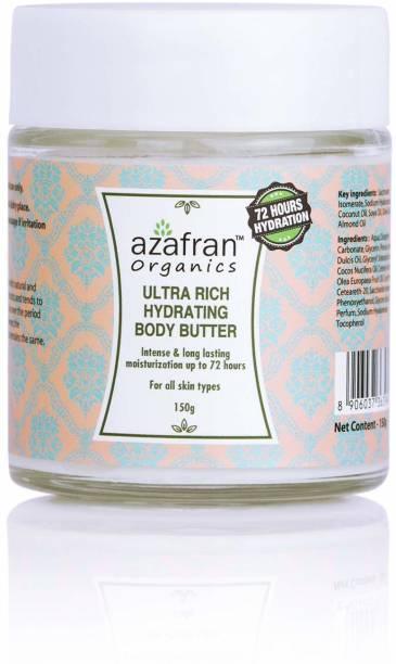 Azafran Organics Ultra Rich Hydrating Body Butter,150 gm