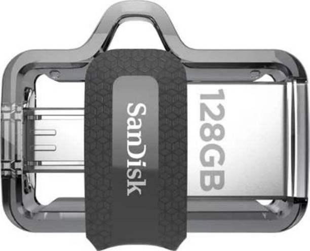 SanDisk OTG 3.0 Dual Drive 128 GB Pen Drive (Black) 128 GB Pen Drive