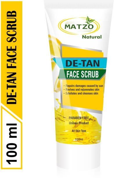 Matzo Natural De-Tan Scrub SLS Free Paraben Free Scrub