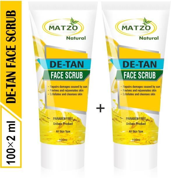 Matzo Natural De-Tan Face Scrub, SLS Free Paraben Free, Face Scrub