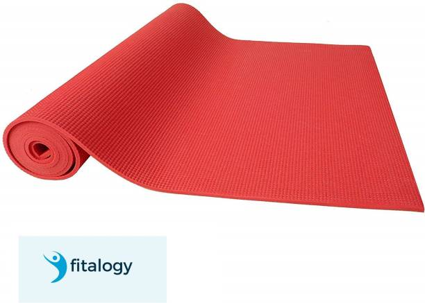 Fitalogy Red Yoga Mat Red 6 mm Exercise & Gym Mat