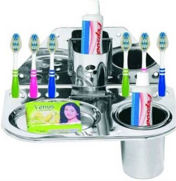 love india Steel Toothbrush Holder