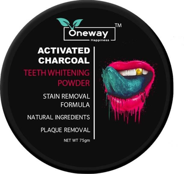 Oneway Happiness Activated Charcoal Teeth Whitening Powder (75gm)