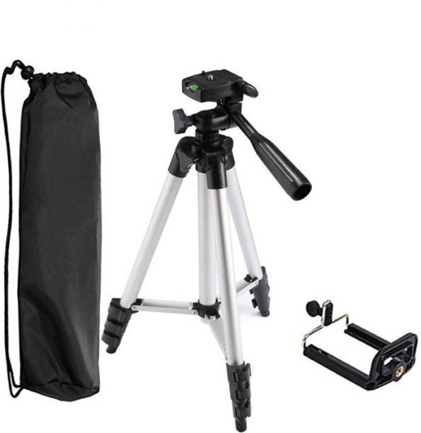 CASADOMANI Portable Adjustable Aluminium Lightweight Camera Stand Tripod-3110 With Three-Dimensional Head & Quick Release Plate For Video Cameras and mobile clip holder for Mobiles & Smartphones Tripod Kit, Tripod Bracket, Tripod Ball Head