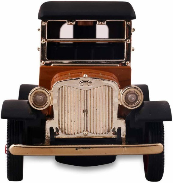 The 5 Inch Vintage Car Models Classic Cabrio Sound /& Light Toy Cars Gifts Black