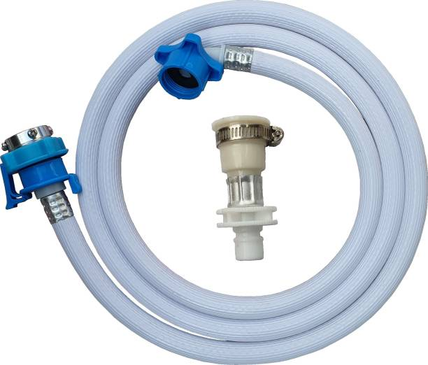 irkaja 5 Meter Flexible PVC Washing Machine Water Inlet/Inflow Hose Pipe with 2 Type Tap Adapters/Connectors for Front & Top Load Fully Automatic Washing Machines (5 Meter) Washing Machine Inlet Hose