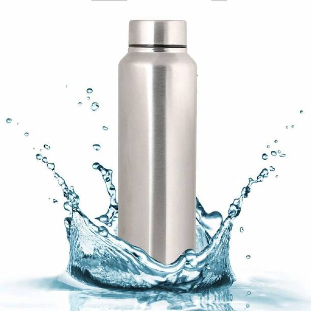 Aquasleri Stainless Steel Water Bottle/ Fridge Water Bottle (Pack of 1, Silver, Steel) 1000 ml Bottle