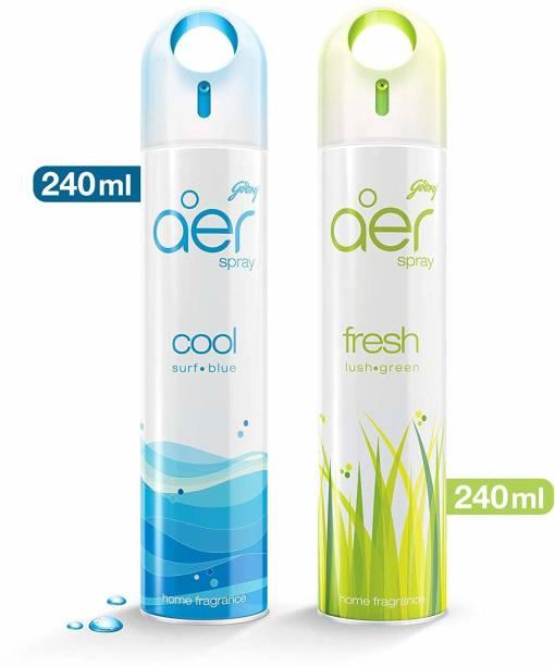 Godrej Aer Cool Surf Blue and Fresh Lush Green Spray