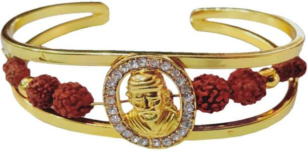 Men Style Wood, Brass Beads Gold-plated Kada