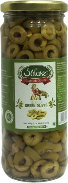 Solasz Spanish Olives Green Sliced Olives