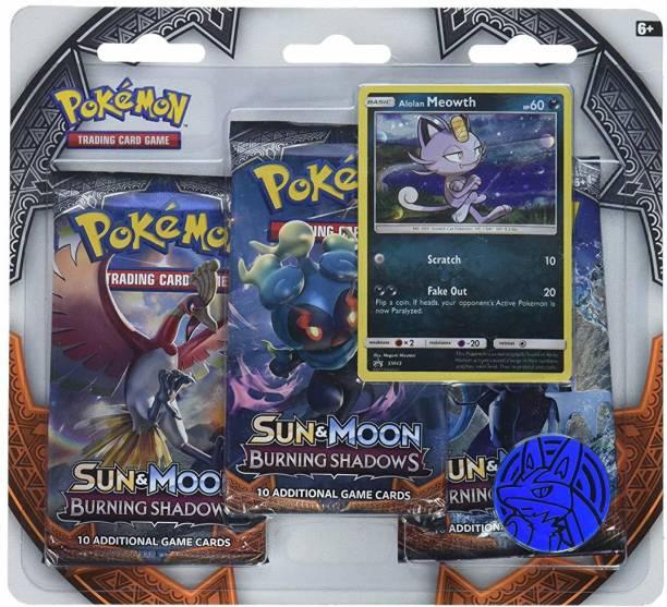 POKEMON TCG Sun & Moon Burning Shadows Three-Booster Blister