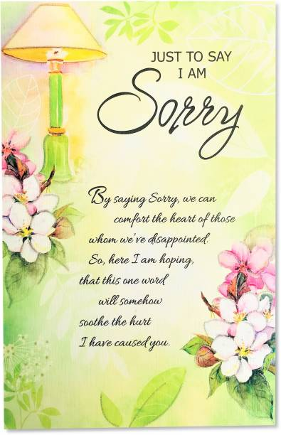 Almoda Creations I am Sorry Greeting Card