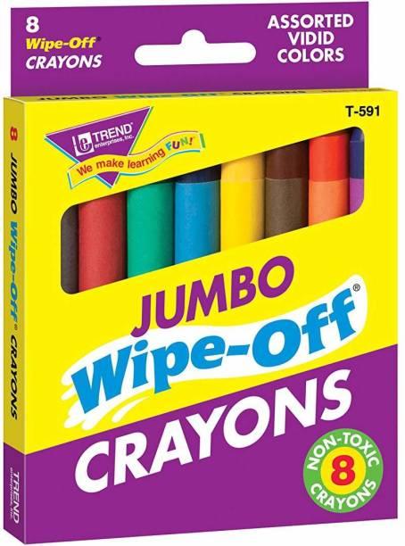 Trend Enterprises Jumbo Wipe-Off Crayons