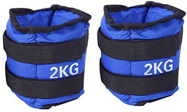 S.D SPORTS BEST QUALITY ANKLE WEIGHT FOR WRIST & LEGS PAIR OF 2KG Blue, Black Ankle Weight, Wrist Weight, Ankle & Wrist Weight