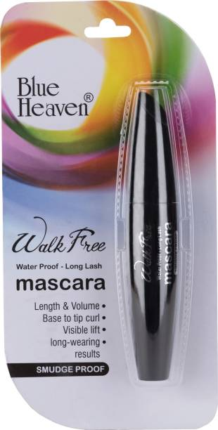 BLUE HEAVEN Walk Free Mascara (Water Proof - Long Lash) Black Pack 12 ml