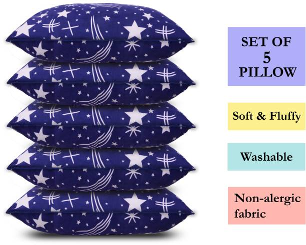 corious Microfibre Abstract Sleeping Pillow Pack of 5