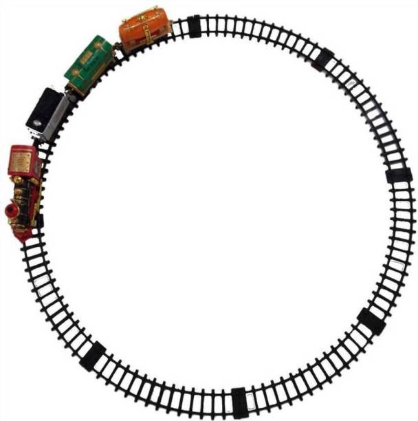 dharmastore Classic Electric Dynamic Steam RC Track Train Set (Multicolor)