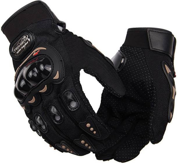 DvineAutoFashionZ Full Finger Gloves For Riders,Bikers Black-N7452K42 Riding Gloves
