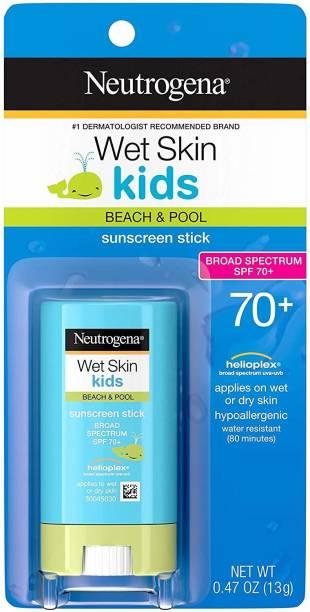 NEUTROGENA Wet Skin Kids Stick Sunscreen Broad Spectrum Spf 70, 0.47 Oz. -- - SPF 70