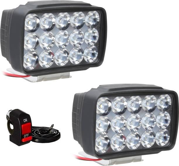 Auto Hub 60W 15 LED Cree Auxiliary Light Fog Lamp, Headlight Motorbike LED (12 V, 40 W)