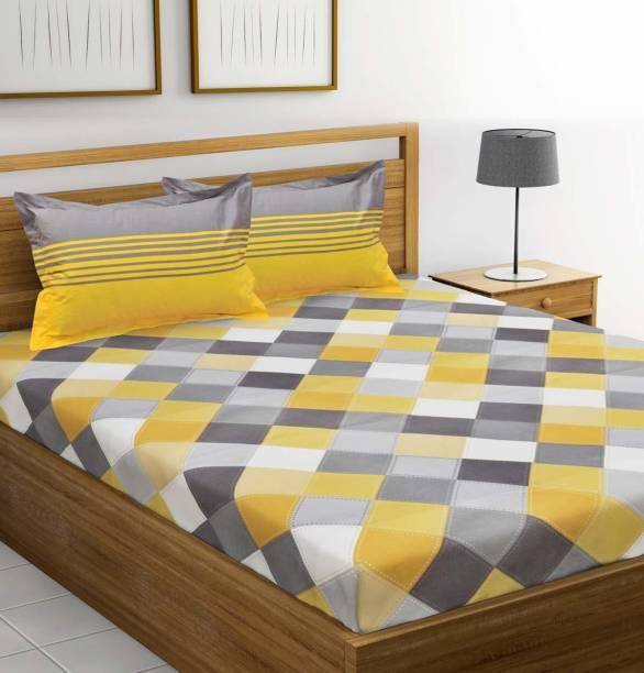 Piroya 151 TC Cotton Double, King Printed Bedsheet